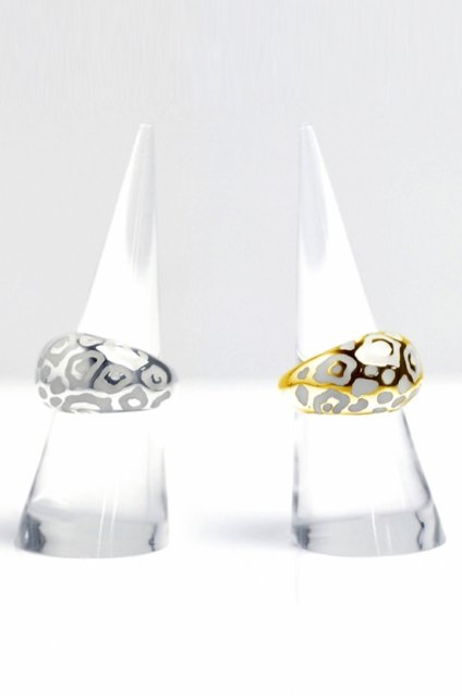 JOHNNY BUSINESS - ジョニービジネス Enameled Animal Ring / Enamel White
