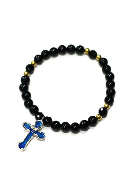 ☆在庫あり SAHRIVAR(シャフリーヴァル)Enameled Cross Blacelet / Silver925 エナメルBLUE