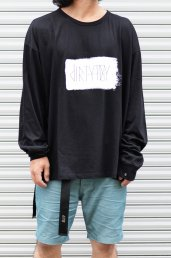10%off dirtytoy(ダーティートイ)Paint Logo Big Long Sleeve / Black