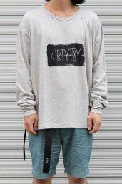 dirtytoy(ダーティートイ)Paint Logo Big Long Sleeve / GRAY