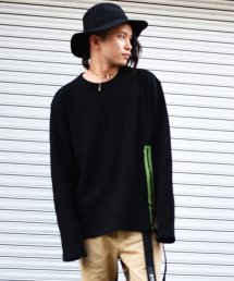 dirtytoy(ダーティートイ)Waffle Big Long Sleeve / Black