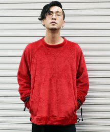 dirtytoy(ダーティートイ)D-Rings Belt Fleece Pull Over / Red