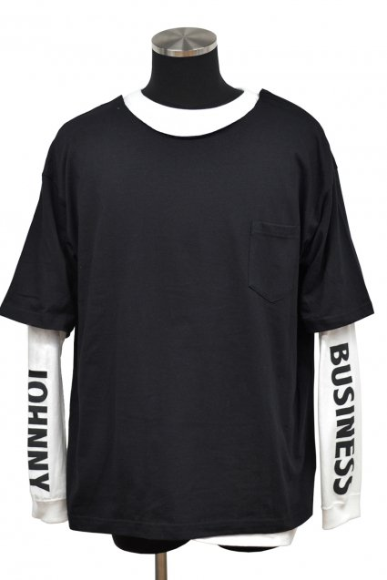 JOHNNY BUSINESS(ジョニービジネス )Long T-Shirt FES!! J.B TOKYO Layered T-Shirt