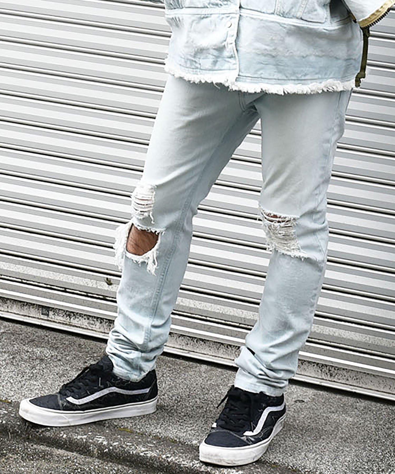 40%off! dirtytoy(ダーティートイ)Bleach Denim Pants