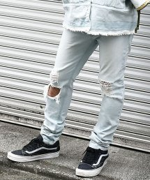 30%off! dirtytoy(ダーティートイ)Bleach Denim Pants