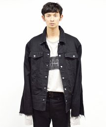 30%off! dirtytoy(ダーティートイ)Damage Denim Big Blouson
