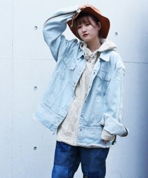 dirtytoy(ダーティートイ)Bleach Denim Big Blouson