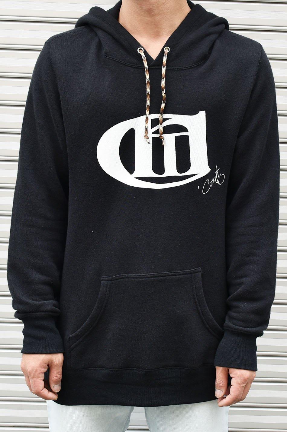 'Conti(コンマコンティ)Logo Print Hoodie / ブラック
