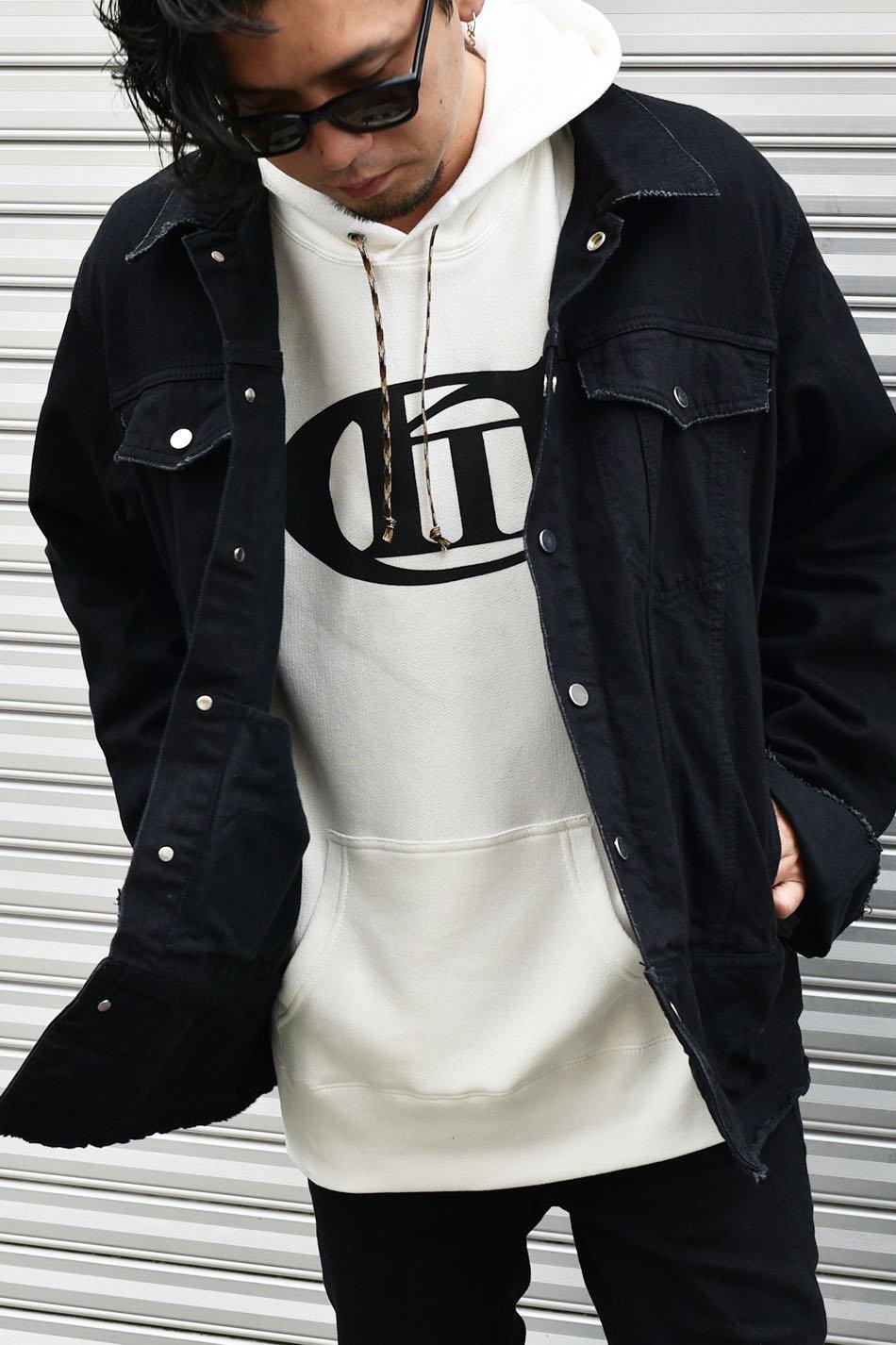 'Conti(コンマコンティ)Logo Print Hoodie / ホワイト