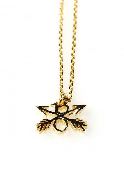 ☆在庫あり BURNOUT(バーンアウト)Crossed Arrows Charm Necklace / Silver925×18金コーティング