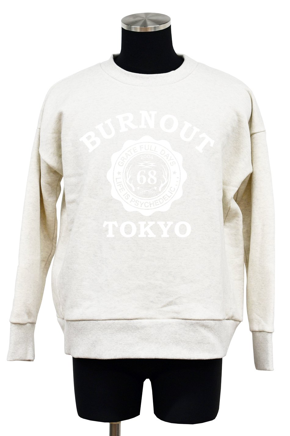 Burnout(バーンアウト)BURNOUT TOKYO 裏毛起毛ワイドプルオーバー2017 / オートミール<img class='new_mark_img2' src='//img.shop-pro.jp/img/new/icons5.gif' style='border:none;display:inline;margin:0px;padding:0px;width:auto;' />
