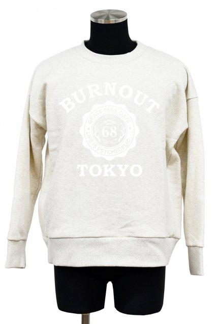 30%off! Burnout(バーンアウト)BURNOUT TOKYO 裏毛起毛ワイドプルオーバー2017 / オートミール