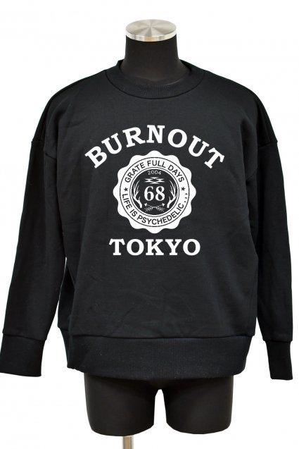 Burnout(バーンアウト)BURNOUT TOKYO 裏毛起毛ワイドプルオーバー2017 / ブラック<img class='new_mark_img2' src='//img.shop-pro.jp/img/new/icons5.gif' style='border:none;display:inline;margin:0px;padding:0px;width:auto;' />
