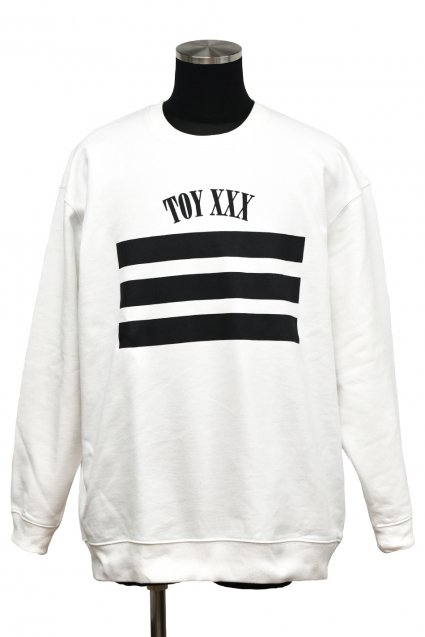 dirtytoy(ダーティートイ )TOY XXX Big Sweat Pull Over / White<img class='new_mark_img2' src='//img.shop-pro.jp/img/new/icons5.gif' style='border:none;display:inline;margin:0px;padding:0px;width:auto;' />