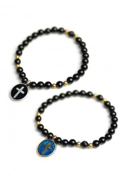 ★受注生産予約 SAHRIVAR(シャフリーヴァル)Enameled Cross Medai Bracelet