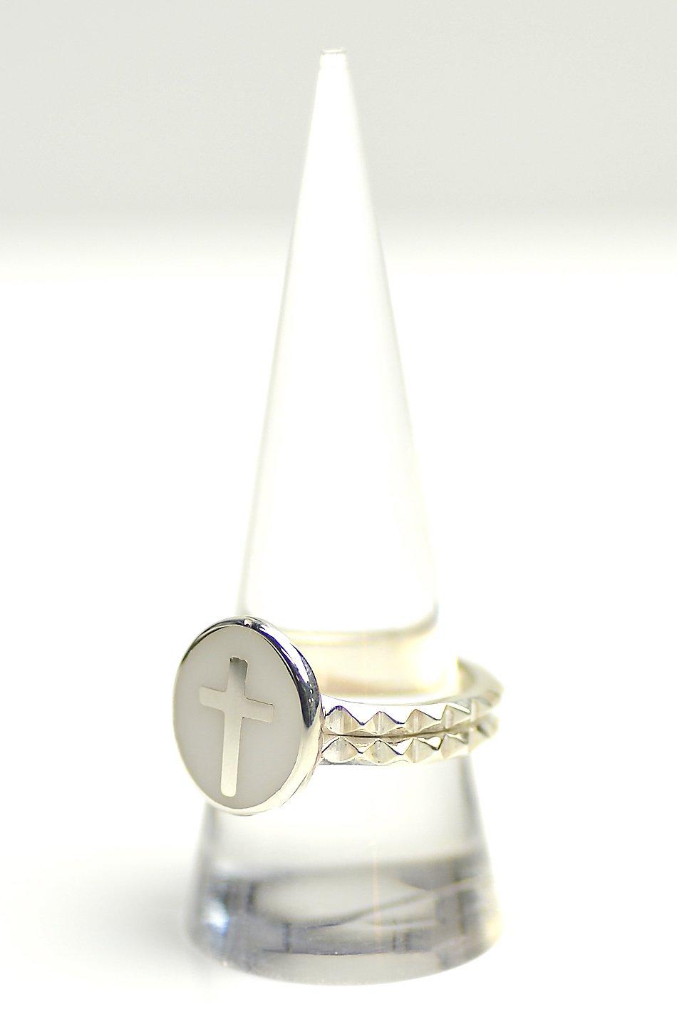 ★受注生産予約 SAHRIVAR(シャフリーヴァル)Enameled Cross Medai Ring (Silver925)
