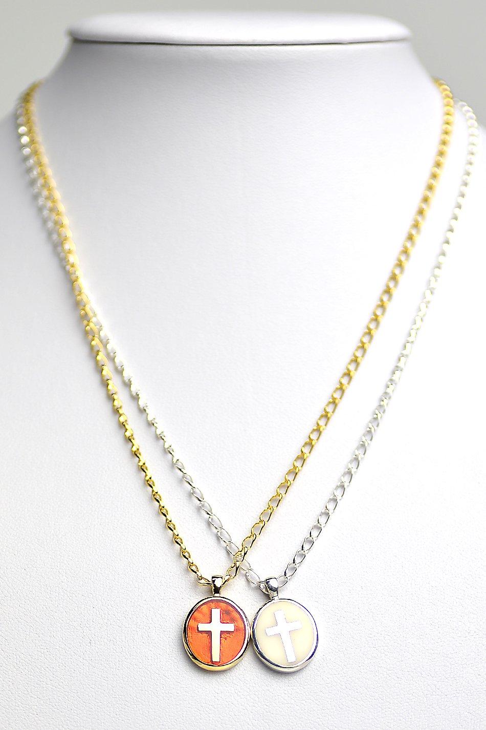 ★受注生産予約 SAHRIVAR(シャフリーヴァル)Enameled Cross Medai Necklace