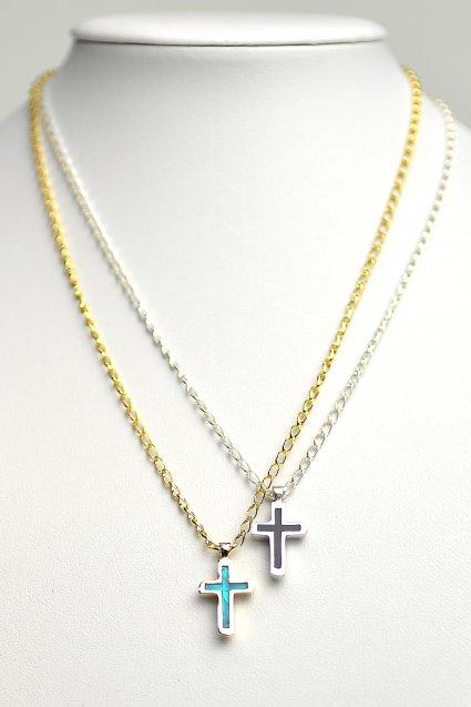 ■受注生産予約(8/9 am10:00まで)■ SAHRIVAR(シャフリーヴァル)Enameled Chiceled Cross Necklace
