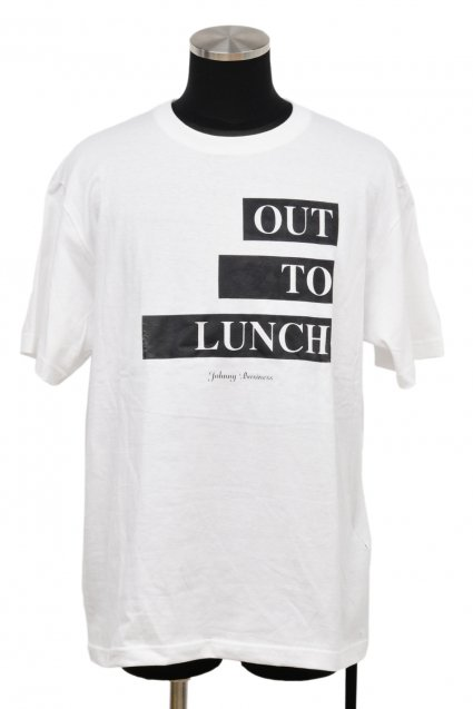 JOHNNY BUSINESS(ジョニービジネス )OUT TO LUNCH T-Shirt / White<img class='new_mark_img2' src='//img.shop-pro.jp/img/new/icons5.gif' style='border:none;display:inline;margin:0px;padding:0px;width:auto;' />