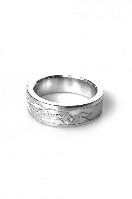 ★受注生産予約 SAHRIVAR(シャフリーヴァル)Enameled Ring(Silver925)
