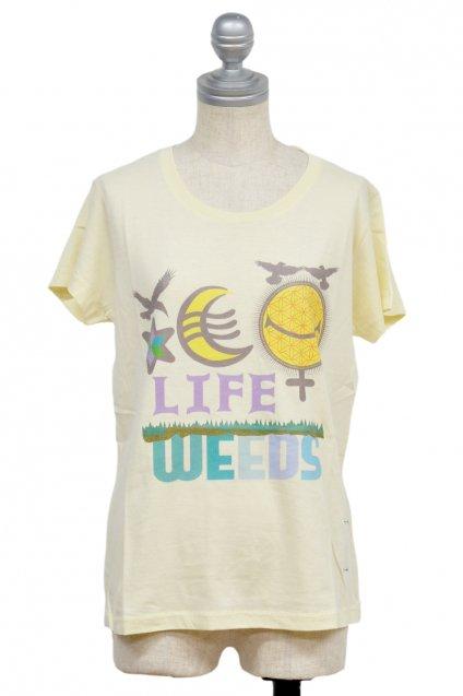 30%off! ARIGATO FAKKYU - アリガトファッキュ 雑草 LIFE WEEDS T-Shirt / Ladies Natural