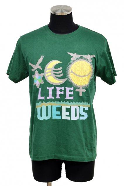 【6周年感謝祭 70%off!】ARIGATO FAKKYU - アリガトファッキュ 雑草 LIFE WEEDS T-Shirt / Green
