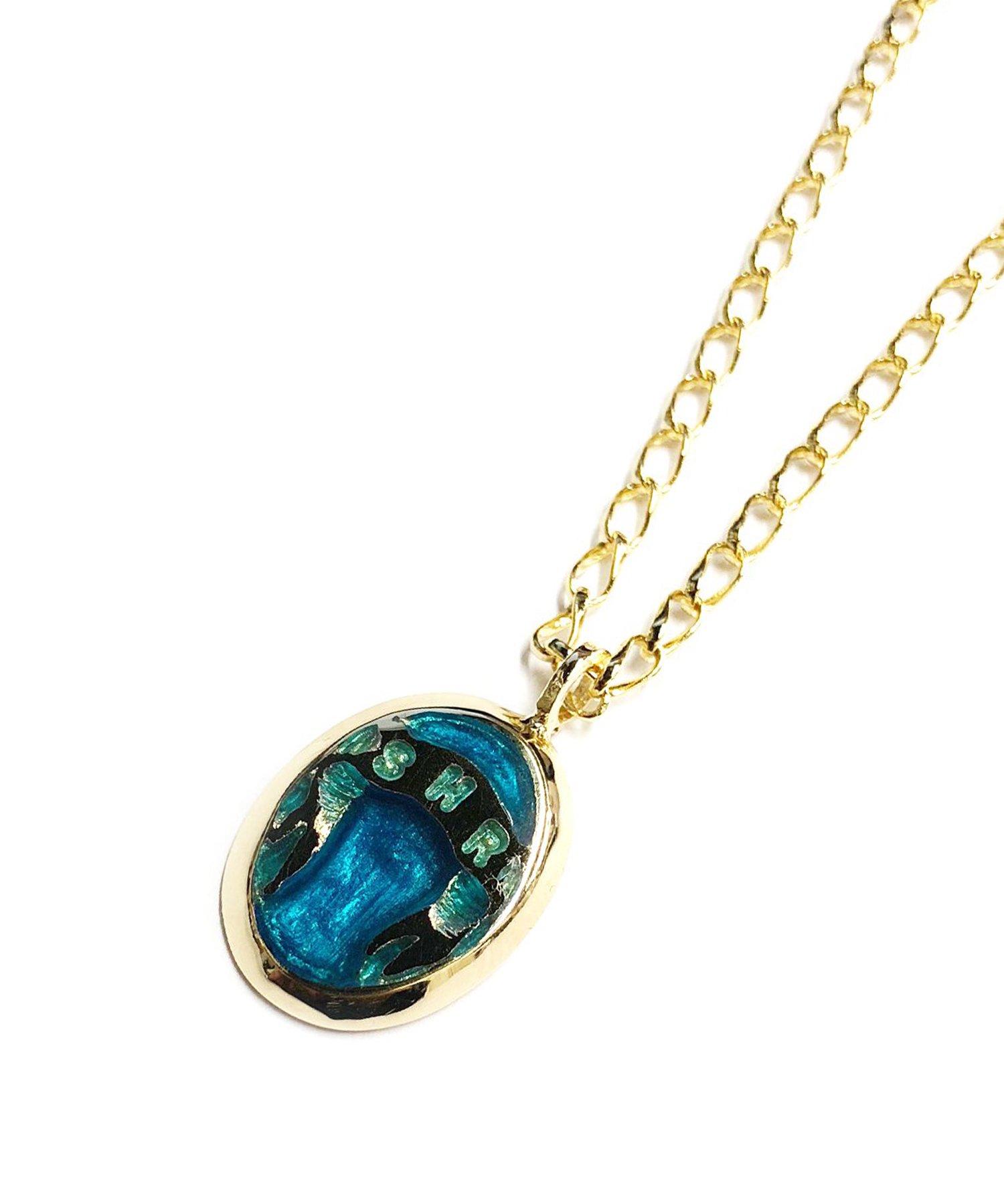 SAHRIVAR(シャフリーヴァル)Enameled Necklace(Brass×18K Plating)エナメルBLUE