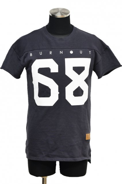 20%off! Burnout(バーンアウト)S/S フットボールTシャツ / チャコール