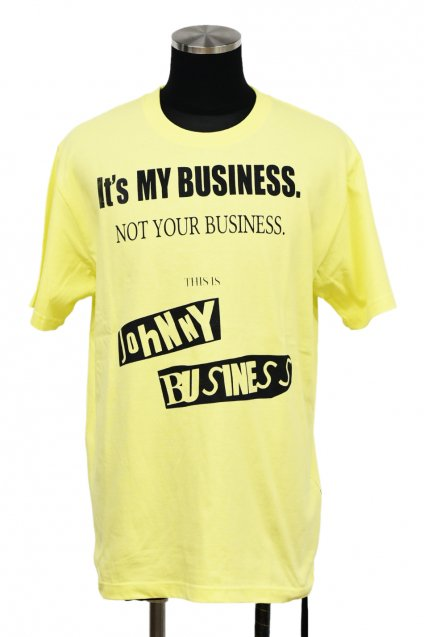 JOHNNY BUSINESS(ジョニービジネス ) It's My Business T-SH. / Yellow<img class='new_mark_img2' src='//img.shop-pro.jp/img/new/icons5.gif' style='border:none;display:inline;margin:0px;padding:0px;width:auto;' />