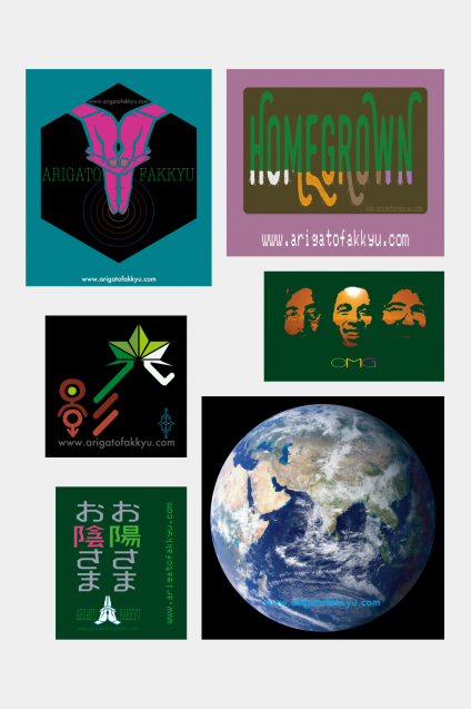 ARIGATO FAKKYU - アリガトファッキュ 6P Stickers