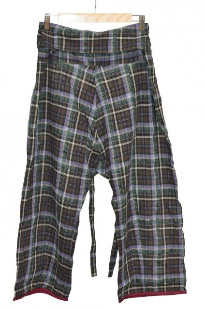 ARIGATO FAKKYU(アリガトファッキュ) Thai Pants / Plaid<img class='new_mark_img2' src='//img.shop-pro.jp/img/new/icons5.gif' style='border:none;display:inline;margin:0px;padding:0px;width:auto;' />
