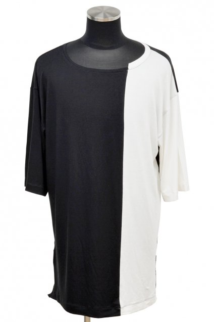 JOHNNY BUSINESS(ジョニービジネス )Deviant Half Sleeve T-Shirt / Black× White