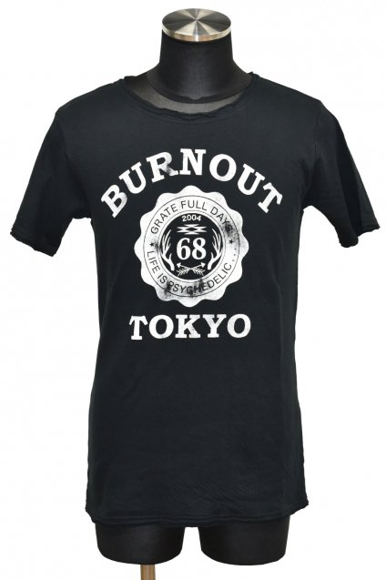 BURNOUT(バーンアウト )接結天竺 カットオフ BURNOUT COLLEGE Tシャツ / ブラック<img class='new_mark_img2' src='//img.shop-pro.jp/img/new/icons5.gif' style='border:none;display:inline;margin:0px;padding:0px;width:auto;' />