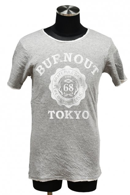 BURNOUT(バーンアウト )接結天竺 カットオフ BURNOUT COLLEGE Tシャツ / 杢グレー<img class='new_mark_img2' src='//img.shop-pro.jp/img/new/icons5.gif' style='border:none;display:inline;margin:0px;padding:0px;width:auto;' />