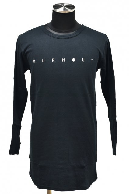 10%off! BURNOUT(バーンアウト )40/40 接結天竺 スリット L/S [BURNOUT]  / ブラック