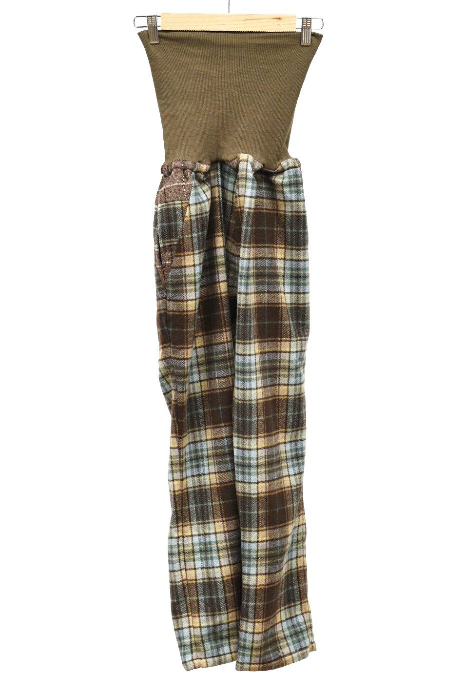 BURNOUT × ARIGATO FAKKYU  HARAMAKI Pants / Green Check