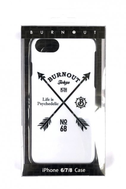 Burnout(バーンアウト)15th Anniversary iPhone Case / White<img class='new_mark_img2' src='//img.shop-pro.jp/img/new/icons5.gif' style='border:none;display:inline;margin:0px;padding:0px;width:auto;' />