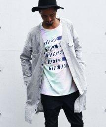 5%off! BURNOUT(バーンアウト )ストライプ ロングカーゴシャツ