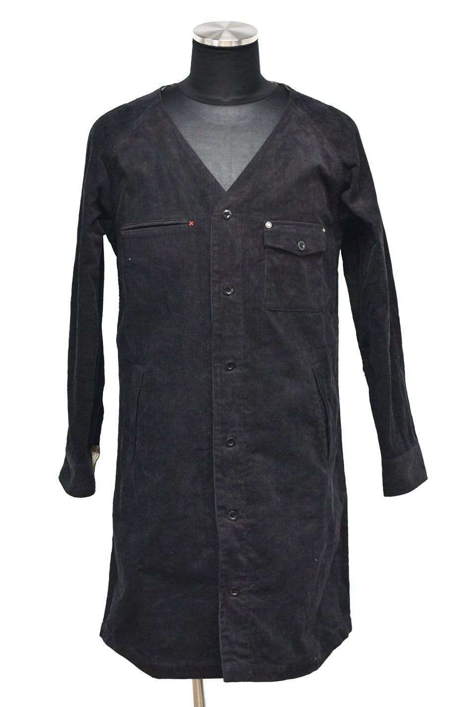 BURNOUT(バーンアウト )コーデュロイ ロングカーゴシャツ