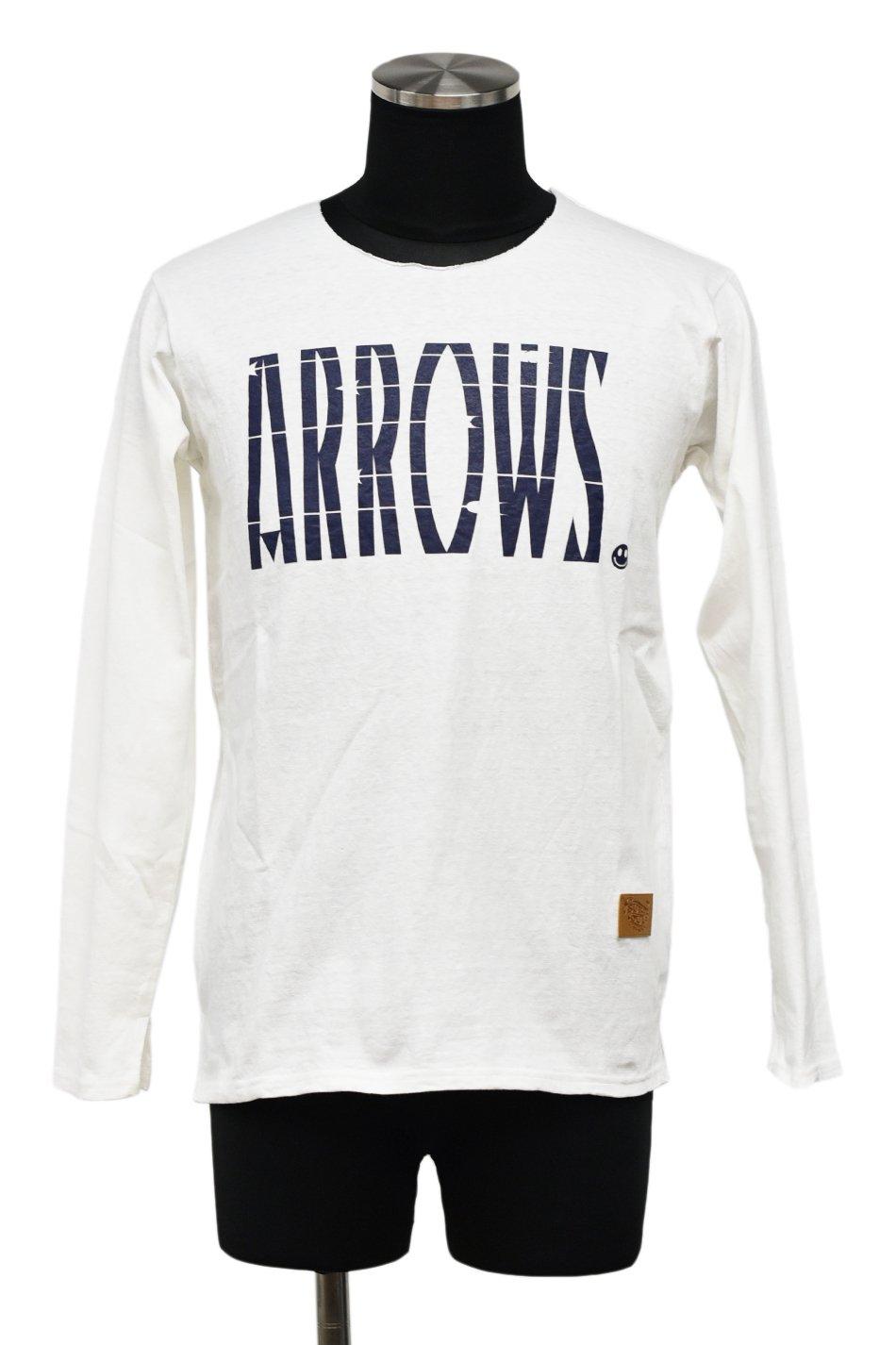 5%off! BURNOUT(バーンアウト )『ARROWS』 ロングスリーブ Tシャツ / ホワイト