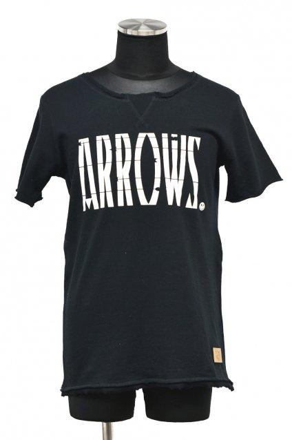 5%off! BURNOUT(バーンアウト )『ARROWS』両Vガゼット S/S プルオーバー / ブラック
