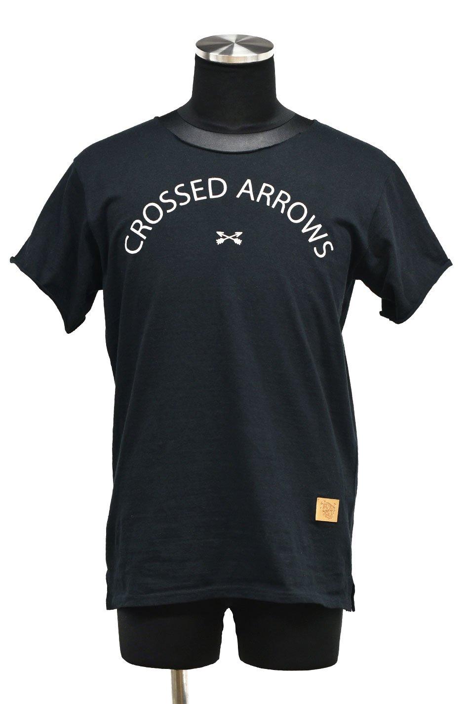 20%off! BURNOUT(バーンアウト )『CROSSED ARROWS』ラフィー天竺 カットオフTシャツ / ブラック