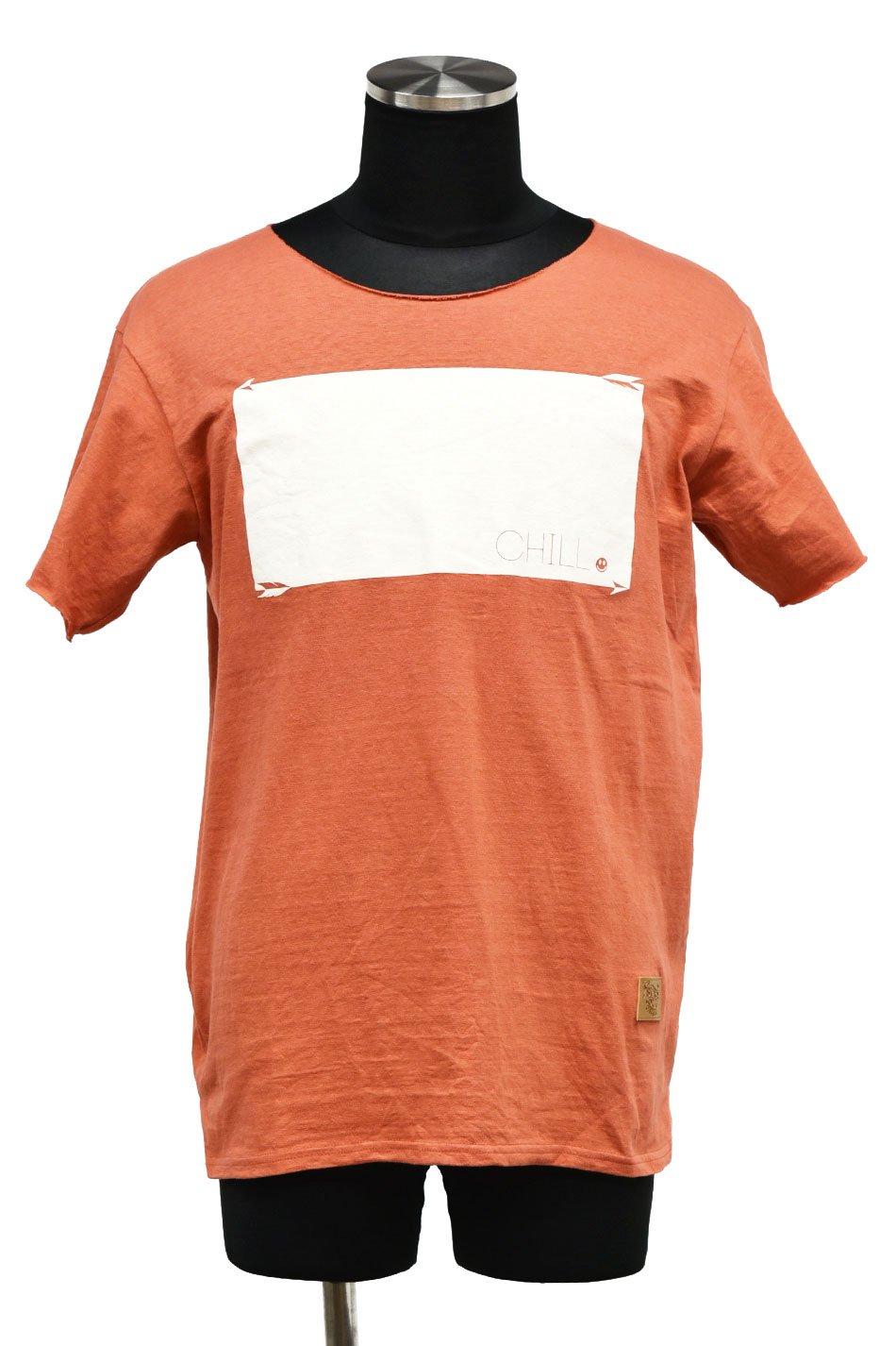 5%off! BURNOUT(バーンアウト )『CHILL』ラフィー天竺 カットオフTシャツ / ブロンズレッド