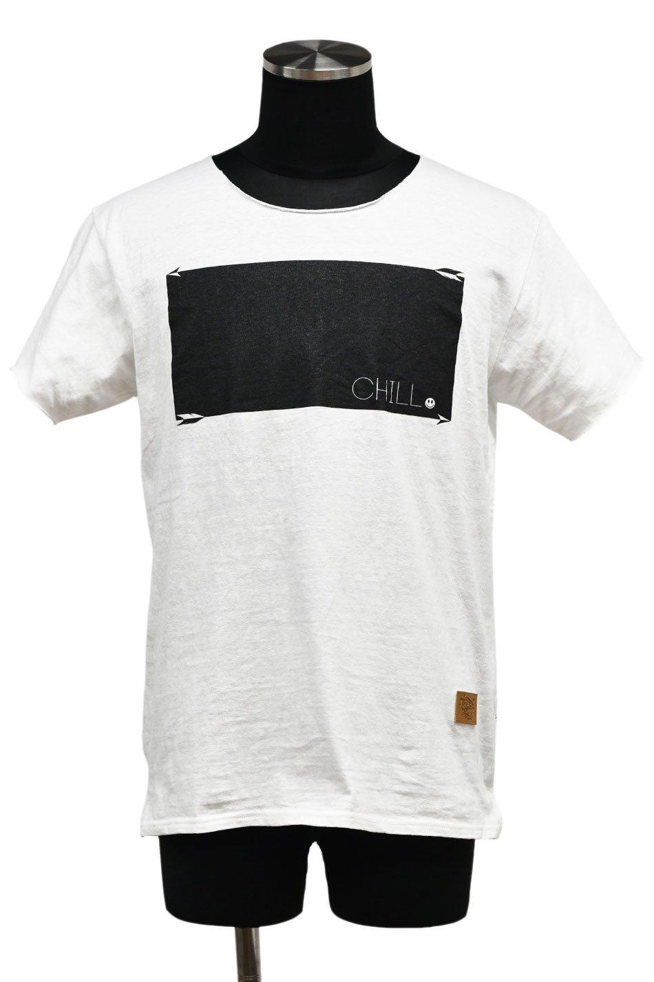 40%off! BURNOUT(バーンアウト )『CHILL』ラフィー天竺 カットオフTシャツ / ホワイト