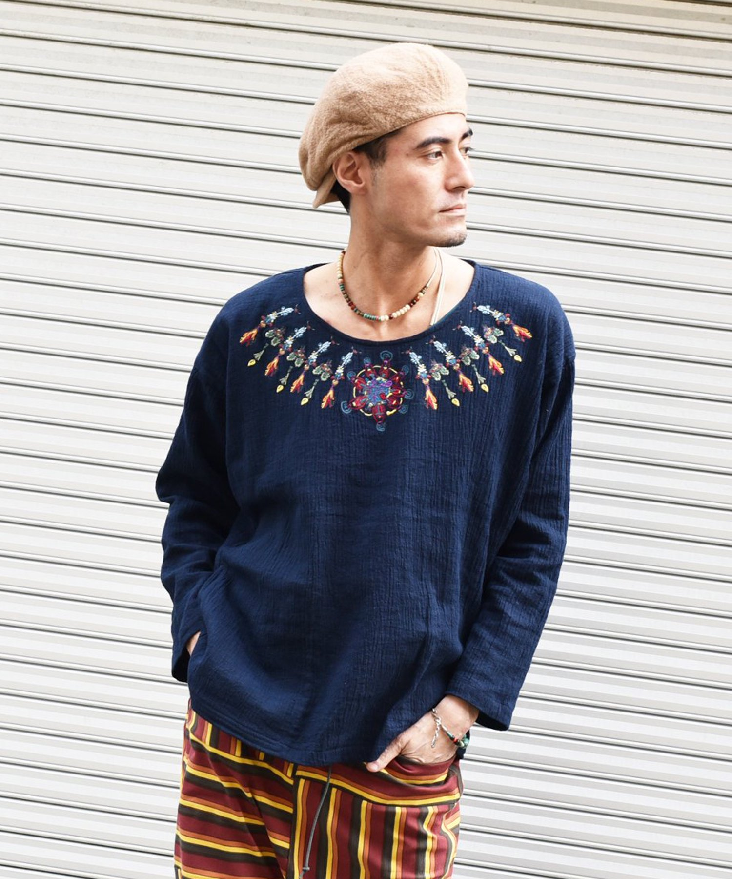 25%off! ARIGATO FAKKYU - アリガトファッキュ EMBROIDERY PULL OVER / #2