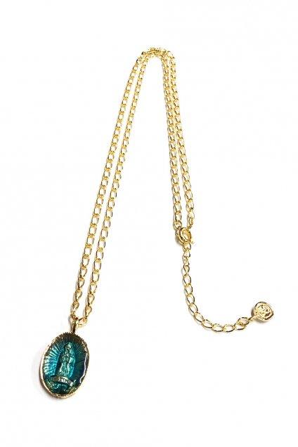 ☆在庫あり SAHRIVAR(シャフリーヴァル)Enameled Medai Necklace 18K on Brass / エナメルBLUE