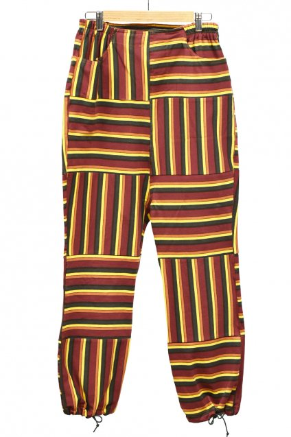 30%off! ARIGATO FAKKYU - アリガトファッキュ BORDER HAGI SAROUEL PANTS / BROWN
