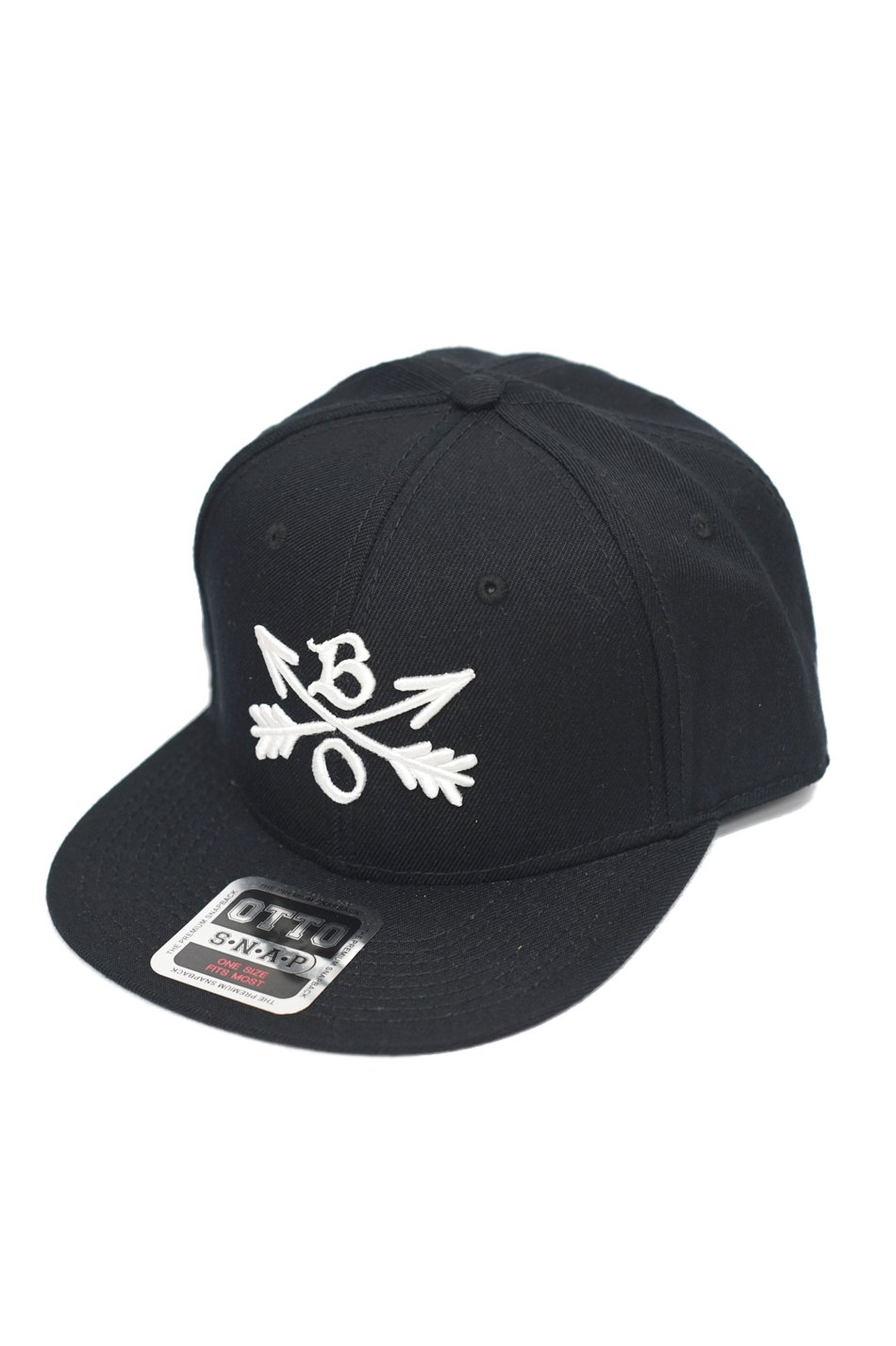 再入荷!Burnout(バーンアウト)Crossed Arrows Cap / 3D Embroidery / ブラック
