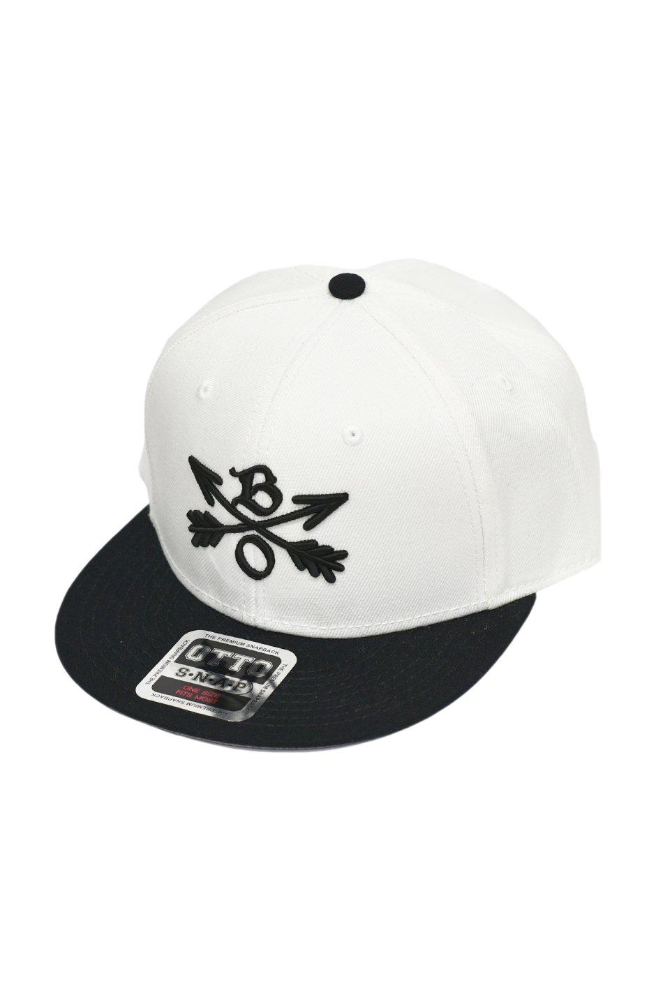 再入荷!Burnout(バーンアウト)Crossed Arrows Cap / 3D Embroidery / ホワイト×ブラック