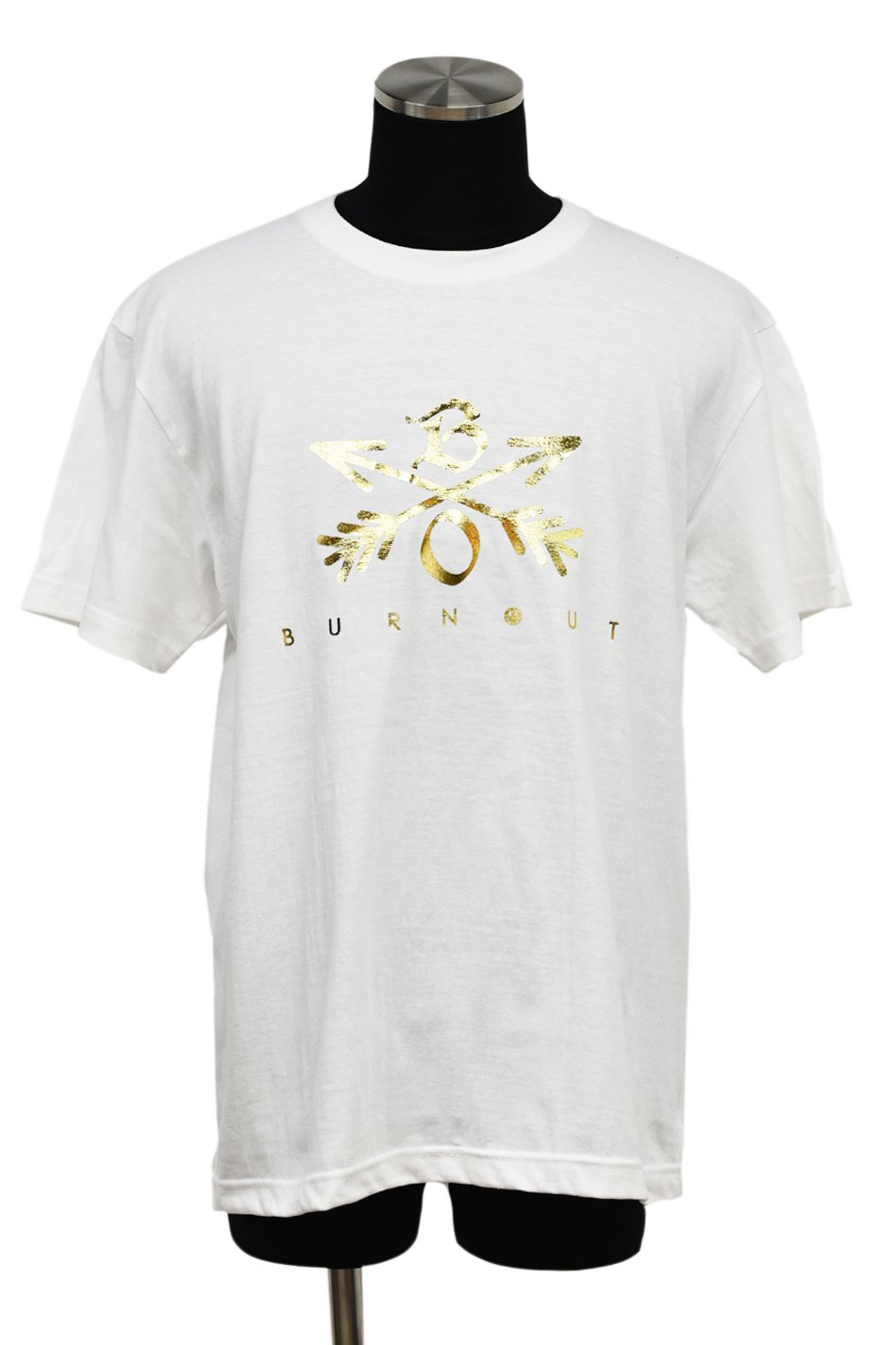 Burnout(バーンアウト) Crossed Arrows T-Shirt 2019 / ホワイト×金箔<img class='new_mark_img2' src='https://img.shop-pro.jp/img/new/icons5.gif' style='border:none;display:inline;margin:0px;padding:0px;width:auto;' />